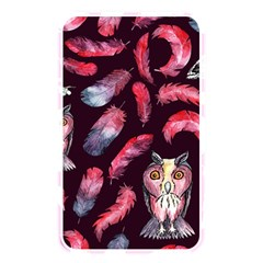 Boho Owl And Feather Pattern Memory Card Reader