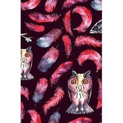 Boho Owl And Feather Pattern 5 5  X 8 5  Notebooks by paulaoliveiradesign