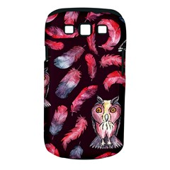 Boho Owl And Feather Pattern Samsung Galaxy S Iii Classic Hardshell Case (pc+silicone) by paulaoliveiradesign