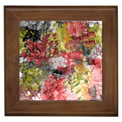 Garden Abstract Framed Tiles by theunrulyartist