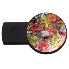Garden Abstract Usb Flash Drive Round (4 Gb) by theunrulyartist