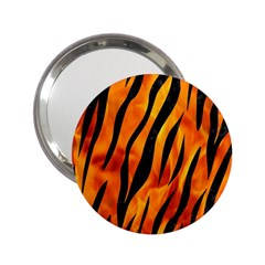 Skin3 Black Marble & Fire (r) 2 25  Handbag Mirrors by trendistuff