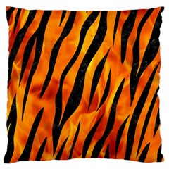 Skin3 Black Marble & Fire (r) Large Cushion Case (two Sides) by trendistuff