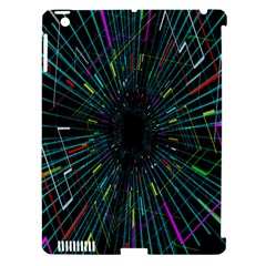 Colorful Geometric Electrical Line Block Grid Zooming Movement Apple Ipad 3/4 Hardshell Case (compatible With Smart Cover) by Mariart