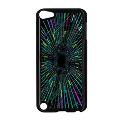 Colorful Geometric Electrical Line Block Grid Zooming Movement Apple Ipod Touch 5 Case (black) by Mariart