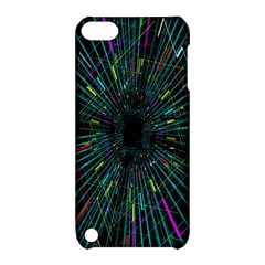 Colorful Geometric Electrical Line Block Grid Zooming Movement Apple Ipod Touch 5 Hardshell Case With Stand by Mariart