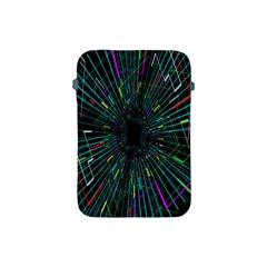Colorful Geometric Electrical Line Block Grid Zooming Movement Apple Ipad Mini Protective Soft Cases by Mariart