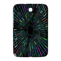 Colorful Geometric Electrical Line Block Grid Zooming Movement Samsung Galaxy Note 8 0 N5100 Hardshell Case  by Mariart