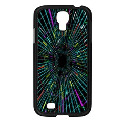 Colorful Geometric Electrical Line Block Grid Zooming Movement Samsung Galaxy S4 I9500/ I9505 Case (black) by Mariart