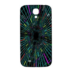 Colorful Geometric Electrical Line Block Grid Zooming Movement Samsung Galaxy S4 I9500/i9505  Hardshell Back Case by Mariart