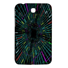 Colorful Geometric Electrical Line Block Grid Zooming Movement Samsung Galaxy Tab 3 (7 ) P3200 Hardshell Case  by Mariart