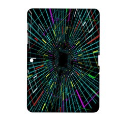 Colorful Geometric Electrical Line Block Grid Zooming Movement Samsung Galaxy Tab 2 (10 1 ) P5100 Hardshell Case  by Mariart