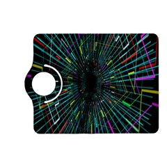 Colorful Geometric Electrical Line Block Grid Zooming Movement Kindle Fire Hd (2013) Flip 360 Case by Mariart