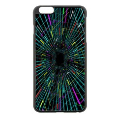 Colorful Geometric Electrical Line Block Grid Zooming Movement Apple Iphone 6 Plus/6s Plus Black Enamel Case by Mariart