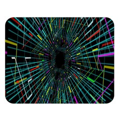 Colorful Geometric Electrical Line Block Grid Zooming Movement Double Sided Flano Blanket (large)  by Mariart