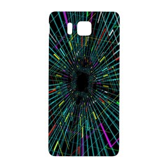 Colorful Geometric Electrical Line Block Grid Zooming Movement Samsung Galaxy Alpha Hardshell Back Case by Mariart