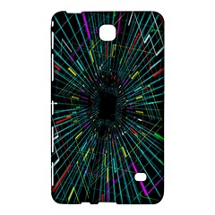 Colorful Geometric Electrical Line Block Grid Zooming Movement Samsung Galaxy Tab 4 (7 ) Hardshell Case  by Mariart