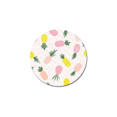Pineapple Rainbow Fruite Pink Yellow Green Polka Dots Golf Ball Marker (4 Pack) by Mariart