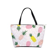 Pineapple Rainbow Fruite Pink Yellow Green Polka Dots Shoulder Handbags by Mariart