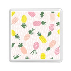 Pineapple Rainbow Fruite Pink Yellow Green Polka Dots Memory Card Reader (square)  by Mariart
