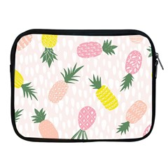 Pineapple Rainbow Fruite Pink Yellow Green Polka Dots Apple Ipad 2/3/4 Zipper Cases by Mariart