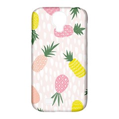 Pineapple Rainbow Fruite Pink Yellow Green Polka Dots Samsung Galaxy S4 Classic Hardshell Case (pc+silicone) by Mariart