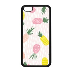 Pineapple Rainbow Fruite Pink Yellow Green Polka Dots Apple Iphone 5c Seamless Case (black) by Mariart