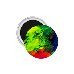 Neon Rainbow Green Pink Blue Red Painting 1 75  Magnets by Mariart