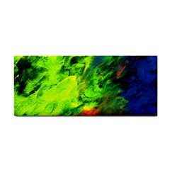 Neon Rainbow Green Pink Blue Red Painting Cosmetic Storage Cases by Mariart