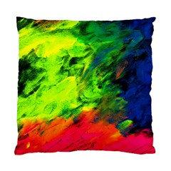 Neon Rainbow Green Pink Blue Red Painting Standard Cushion Case (two Sides) by Mariart