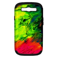Neon Rainbow Green Pink Blue Red Painting Samsung Galaxy S Iii Hardshell Case (pc+silicone) by Mariart