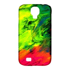 Neon Rainbow Green Pink Blue Red Painting Samsung Galaxy S4 Classic Hardshell Case (pc+silicone) by Mariart