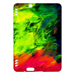 Neon Rainbow Green Pink Blue Red Painting Kindle Fire Hdx Hardshell Case by Mariart