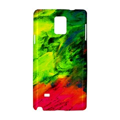 Neon Rainbow Green Pink Blue Red Painting Samsung Galaxy Note 4 Hardshell Case by Mariart