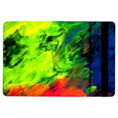 Neon Rainbow Green Pink Blue Red Painting Ipad Air 2 Flip by Mariart