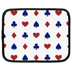 Playing Cards Hearts Diamonds Netbook Case (xxl)  by Mariart