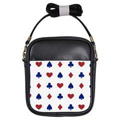 Playing Cards Hearts Diamonds Girls Sling Bags by Mariart