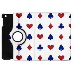 Playing Cards Hearts Diamonds Apple Ipad Mini Flip 360 Case by Mariart