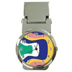 Rainbow Pink Yellow Bluw Green Rainbow Money Clip Watches by Mariart