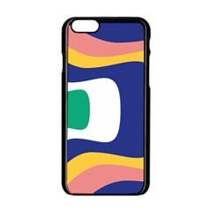 Rainbow Pink Yellow Bluw Green Rainbow Apple Iphone 6/6s Black Enamel Case by Mariart