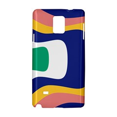 Rainbow Pink Yellow Bluw Green Rainbow Samsung Galaxy Note 4 Hardshell Case by Mariart