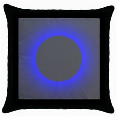 Pure Energy Black Blue Hole Space Galaxy Throw Pillow Case (black) by Mariart
