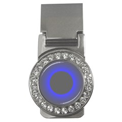 Pure Energy Black Blue Hole Space Galaxy Money Clips (cz)  by Mariart