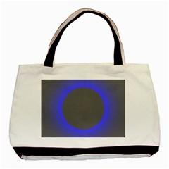 Pure Energy Black Blue Hole Space Galaxy Basic Tote Bag by Mariart