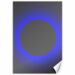 Pure Energy Black Blue Hole Space Galaxy Canvas 12  X 18   by Mariart