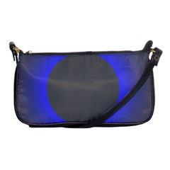 Pure Energy Black Blue Hole Space Galaxy Shoulder Clutch Bags by Mariart