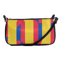 Rainbow Sign Yellow Red Blue Retro Shoulder Clutch Bags by Mariart