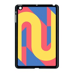 Rainbow Sign Yellow Red Blue Retro Apple Ipad Mini Case (black) by Mariart