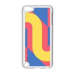 Rainbow Sign Yellow Red Blue Retro Apple Ipod Touch 5 Case (white) by Mariart