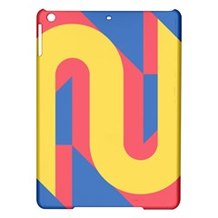 Rainbow Sign Yellow Red Blue Retro Ipad Air Hardshell Cases by Mariart